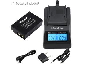 Kastar Ultra Fast Charger Kit and Battery (1-Pack) for Canon LP-E17 Battery LC-E17, LC-E17C Charger and Canon EOS M3, EOS Rebel T6i, EOS Rebel T6s, EOS 750D, EOS 760D, EOS 8000D, Kiss X8i cameras