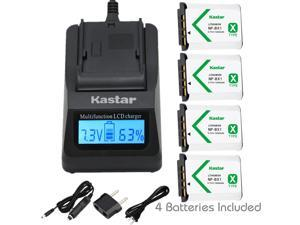 Kastar Fast Charger and Battery (4-Pack) for Sony NP-BX1 and Cyber-shot DSC-HX50V, DSC-HX300, DSC-RX1, DSC-RX100, DSC-WX300, HDR-AS10, HDR-AS15, HDR-AS30V, HDR-AS100V, HDR-CX240, HDR-MV1, HDR-PJ275