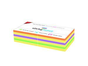 Slickynotes 12 Pads (95 Sheets) Glue Free Sticky Notes