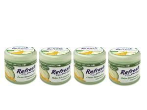 4-Pack Refresh Your Car Gel Can 4.5 oz Cucumber Melon Car Air Freshener