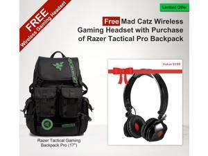 Razer Tactical Gaming Pro Backpack with Free Mad Catz Wireless Gaming Headset