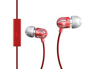 Spider Red E-EMIC-RD02 Earbud TinyEar Earphones w/ Inline Microphone Red