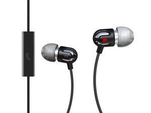 Spider Black E-EMIC-BK02 Earbud TinyEar Earphones w/ Inline Microphone Black