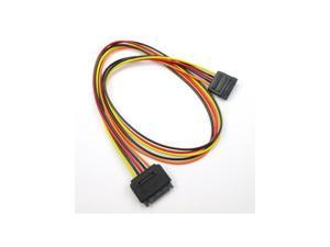 "OKGEAR 24"" SATA 15 PIN Power Extension Adapter Cable"