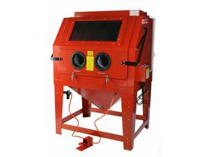 260 Gallon Sandblast Cabinet Floor Standing Attached Vacuum System Sandblaster