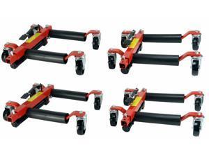 """Set of Four 1500 lb 12"""" Wide Hydraulic Car Wheel Dolly Jack Lift Air Tool Shop"""