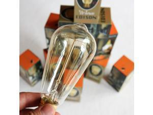 Edison Light Bulb - 6pack 60w - Vintage / Antique Style Bulbs Filament - Original Nostalgic Reproduction for String Lights & Pendant Lamps