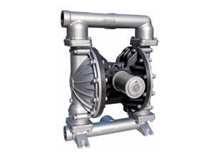 """Double Diaphragm Teflon Air Pump PII.50S Chemical Industrial Stainless Steel 1/2"""" NPT Inlet / Outlet"""