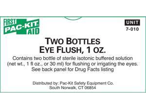 First Aid Only 7-010 Eyewash, 1oz., 2/Bx