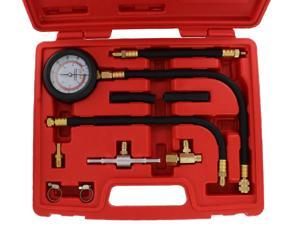 ABN Universal Fuel Injection Pressure Test Kit w/ IMPROVED Flex Hoses & Fittings