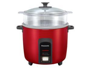 Panasonic 12 Cup (Uncooked) Automatic Rice Cooker/Steamer, Red