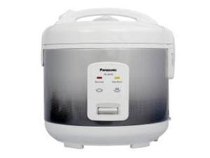 Panasonic SR-JN185 Electric Rice Cooker (10 Cup Uncooked Rice Capacity) - Silver