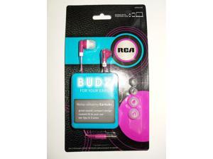 RCA BUDZ HP60PLDR Noise-isolating Earbuds, Pink