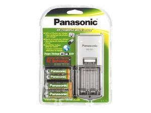 Panasonic BQ-321 Rechargeable Battery and Charger Kit with 4 AA Ni-MH Batteries and Portable Charger