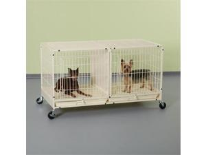 Pet Pals ZW5311 11 PS Color Modular Cage with Plastic Tray Ivory S