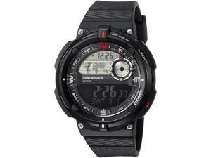 Casio SGW600H-1B Twin Sensor Mens Black Strap Watch