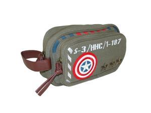 Marvel Captain America Military Canvas Toiletry Bag, Green