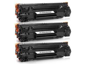 JARBO Replacement for HP 85A/HP 35A Toner Cartridges(HP CE285A/HP CB435A) High Yield, 3 Black, Worked with HP Laserjet Pro P1102W P1109W M1212NF M1217NFW P1005 P1006 Printer
