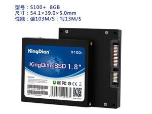 KingDian S100+ Series 1.8 Inch 8GB SATAII Internal Solid State Drive (SSD) For Computer (S100+ 8GB)