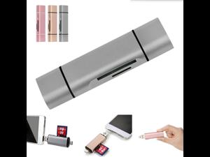 USB Type C Card Reader,Oenbopo 3-in-1 USB-A / Micro USB / Type-c Port TF SD Card Reader Support OTG For Macbook ,Nexus ,Google tablet & Windows Computer ,Samsung Android OTG Phone (Silver)