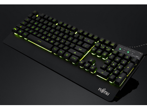 For Fujitsu Kh800 Dazzle Light Speed Game Keyboard wired USB keyboard backlit mechanical gaming keyboard metal (Black)