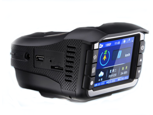 6 IN 1 Car Electronic Radar Detector Vehicle Video Camera Recorder 12-24V 2.2 Inch Display  HD radar speedometer tachograph one machine