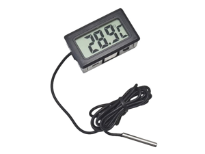 Digital Electronic Thermometer Temperature Monitor Tester Temperature testing Gauge Panel with Waterproof Sensor, Measures in Celsius or Fahrenheit -50? to +110?/-58°F to +230°F for Aquarium Refrigera