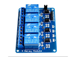 With optocoupler 4 channel 4-channel relay modules relay control panel PLC relay 5V four way module