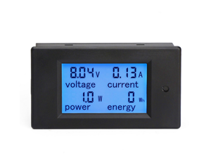 DC 6.5-100V 0-20A LCD Display Digital Current Voltage Power Energy Meter Multimeter Ammeter Voltmeter with 20A Current Shunt