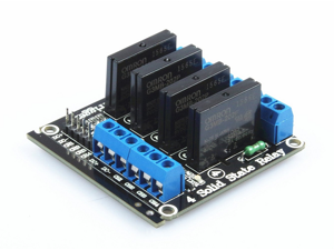 5V 4 Channel SSR Solid-State Relay High Level Trigger relay module with fuse solid state relay module 250V 2A