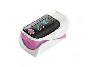 Fingertip Pulse Oximeter Blood Oxygen Saturation Monitor SPO2 OLED Pulse Heart Rate Monitor Oximeter(Pink)