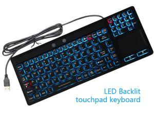 IP68 Silicone Industrial keyboard Waterproof with LED and Touchpad Build Mouse