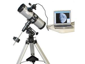 "Silver 4.5"" Astrophotgraphy Telescope with Camera"