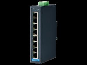 Advantech 8-port 10/100Mbps Unmanaged Ethernet switch, -10 ~ 60C