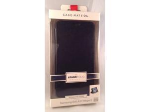 New OEM Case-Mate Samsung Galaxy Mega 2 Black Stand Folio Wallet Flip Cover Case