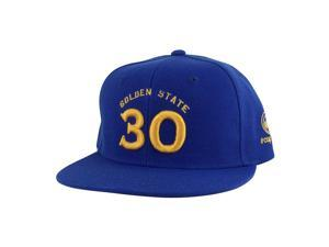 Golden State Stephen Curry #30 Snapback Hat Cap - Blue Gold