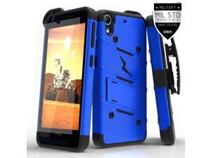 HTC Desire 626s Case, Zizo [Bolt Series] w/ FREE [HTC Desire 626s Screen Protector] Kickstand [Military Grade DropTested] Holster Clip-Desire 626s 626