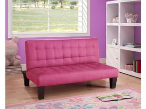 DHP Ariana Junior Microfiber Sofa Futon Couch, Pink, Perfect For Childrens Playroom