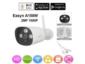 EasyN HD P2P Onvif WiFi Wireless 2-in-1 2-Way Audio Intercom Wired Home Security CCTV IP Camera