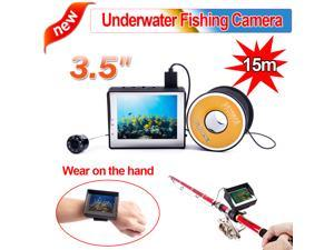 "3.5"" LCD Monitor 15M/30M Cable 1000TVL Wearable Underwater Video Camera Fishing Camera Fish Finder"