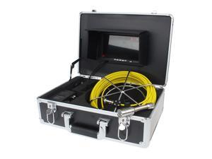 "WF92 98FT 30M Waterproof Sewer Snake Video Camera 7"" LCD Screen Drain Pipe Inspection"