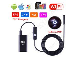 WiFi Inspection Camera Dia 8mm Length 1M 2M 3.5M 5M Borescope Endoscope Scope For iPhone and Samsung Android
