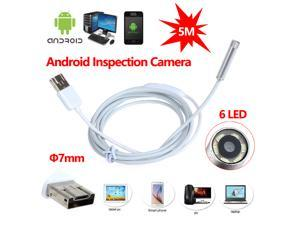 [ Ship from USA !!! ] 2 in 1 USB 7mm Android Endoscope OTG  Endoscope Waterproof Borescopes Inspection HD Camera with 6 LED For Android & Windows
