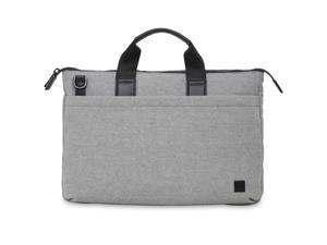 "Knomo Brompton Fabric Oxberry 15.6"" Briefcase - Grey"