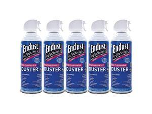 Endust 255050 Electronics Duster 5 Pk - 10 Oz&#59; Non-Flammable&#59; With Bitterant