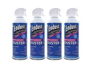 Endust 255050 Electronics Duster 4 Pk - 10 Oz&#59; Non-Flammable&#59; With Bitterant