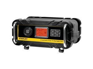 Stanley Bc25bs Battery Charger With Engine Start (25-Amp Charger, 75-Amp Starter)  15.25in. x 11.75in. x 10.50in.