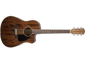 Fender CD-60CE Dreadnought Cutaway Acoustic-Electric Guitar with Hard Case - All Mahogany