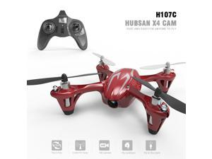 Hubsan X4 H107C  4 Channel 2.4GHz 6 Axis Gyro RC Quadcopter with 480P Camera Mode 2 RTF (silver red)
