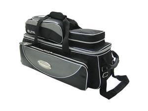 Elite Platinum Deluxe Triple Tote Bowling Bag